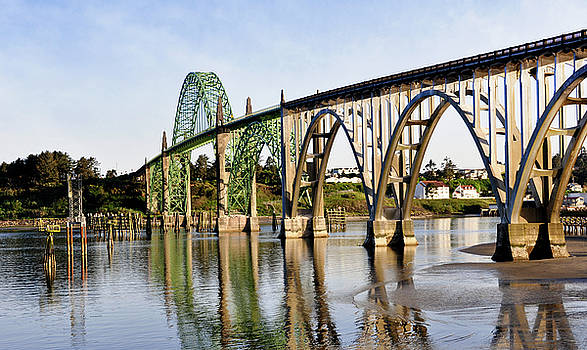 Newport Oregon - Yaquina Bay Bridge Reflections by Image Takers Photography LLC - Laura Morgan