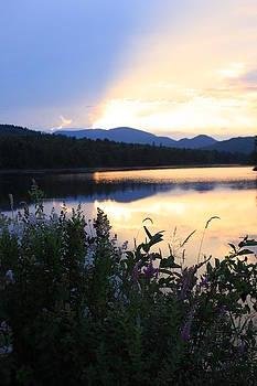 NH Lake at Sunset by Susan Schmidt