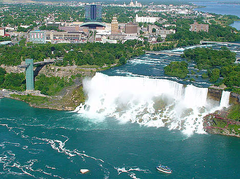 Niagara American and Bridal Veil Falls  by Charles Kraus