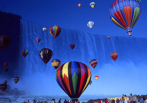 Art America Gallery Peter Potter - Niagara Balloons - Fantasy Art Collage