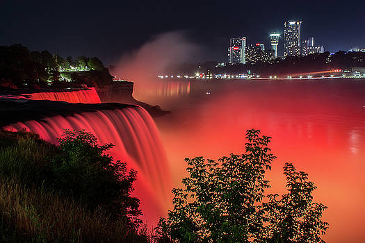 Niagara Falls at night. by Johnathan Erickson