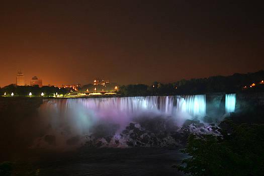 Niagara Falls by Night by Reni Boisvert