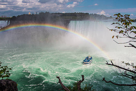Niagara Falls, Rainbow and Maid of the Mist by Venetia Featherstone-Witty
