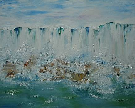 Niagara Falls View from Maid of the Mist by Judith Rhue