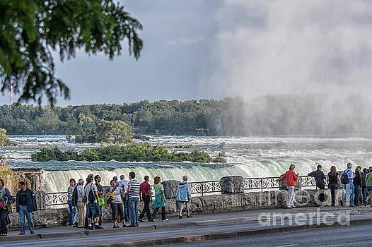 Patricia Hofmeester - Niagara Falls with tourists
