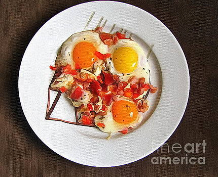 nice Breakfast scrambled eggs by Yury Bashkin