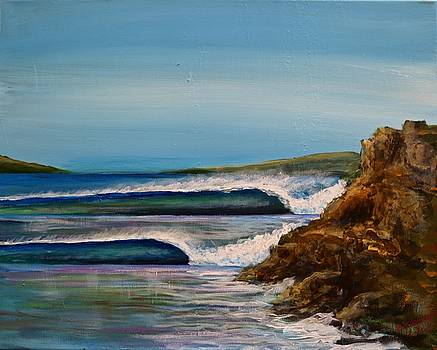 Nice day for a surf by Bob Hasbrook