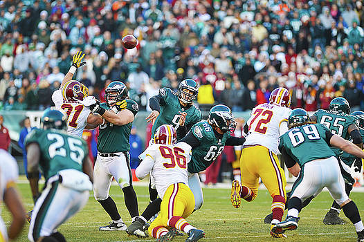Nick Foles Throws Downfield by William Jobes