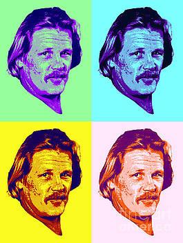 Nick Nolte Colorful Pop Art by Pd