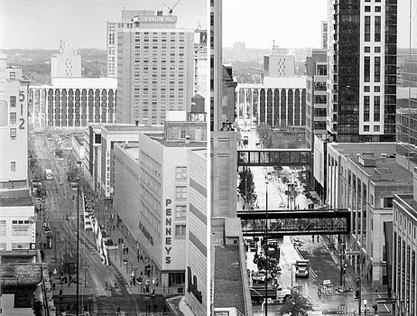 Nicollet Mall from Dayton's 12th floor by Mike Evangelist