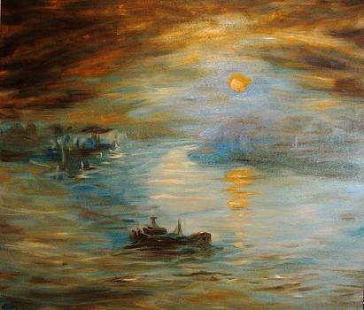 Nida Harbor by Alexander Bukhanov