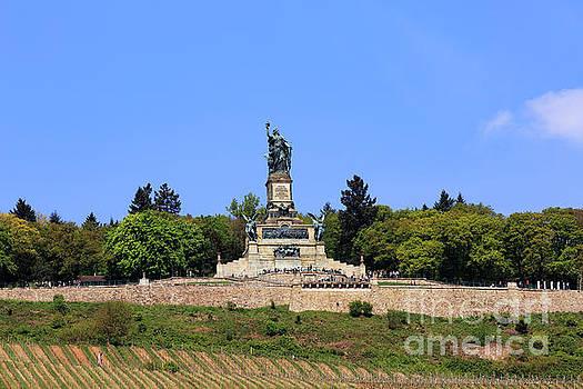 Niederwald Monument above Rudesheim Germany by Louise Heusinkveld