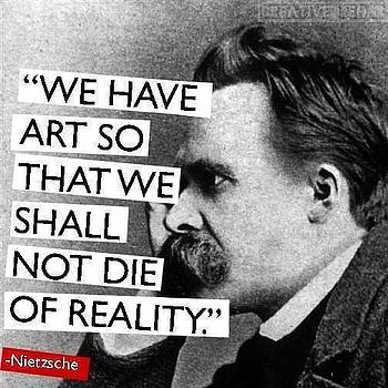 Nietzche Art Quote by VIVA Anderson