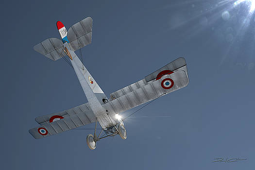 Nieuport 17 In the Blue Sky by David Collins