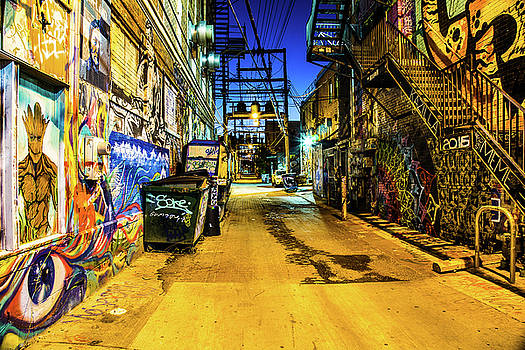 Night At Art Alley by Steven Bateson