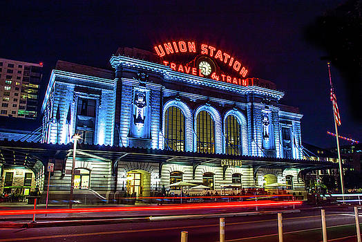 Night At Denver Union Station by Steven Bateson