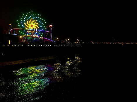 Art Block Collections - Night at Santa Monica Pier