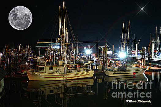 Night at the Steveston Docks by Randy Harris