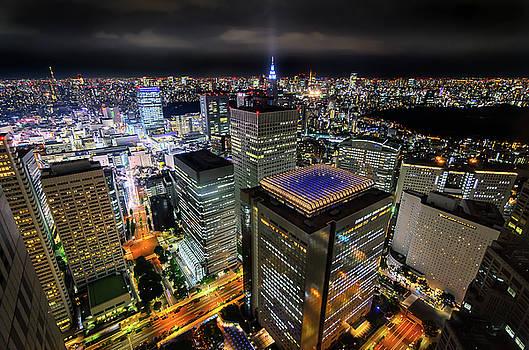 Night at Tokyo Metropolitan Government Building by Craig Szymanski