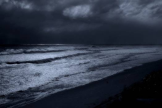 Night Beach - Jersey Shore by Angie Tirado