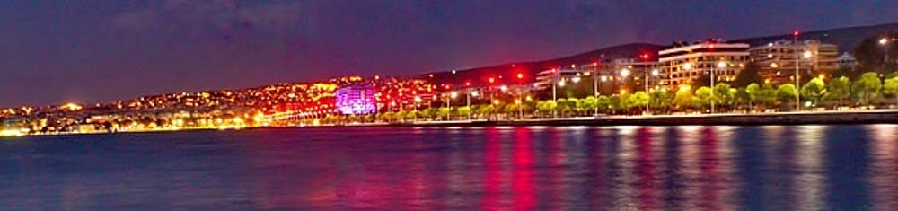 Night City Lights From A Distance by Emmanuel Varnas