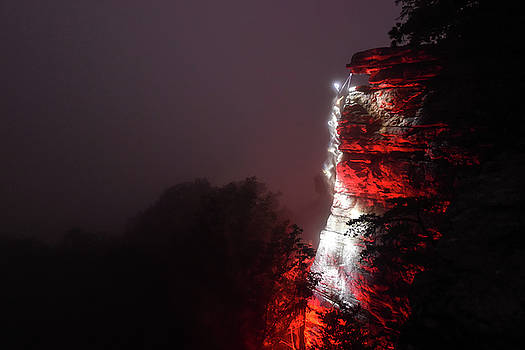 Night Climbing in the Fog by Jeremy Clinard