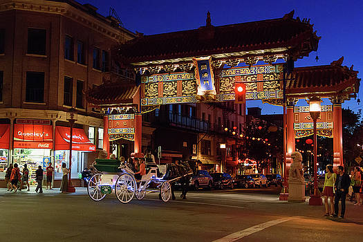 Night Falls in Chinatown by Keith Boone