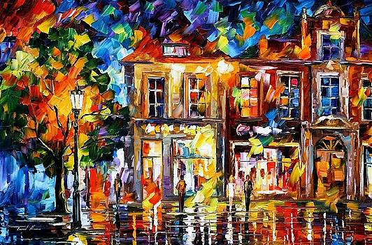 Night Imagination - PALETTE KNIFE Oil Painting On Canvas By Leonid Afremov by Leonid Afremov