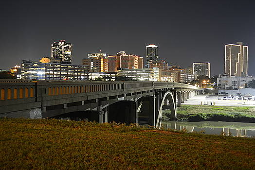 Night in Fort Worth Tx by Gabe Aguilar