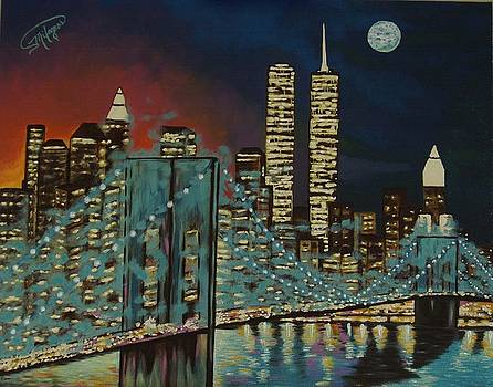 Night in Manhattan by Milagros Palmieri