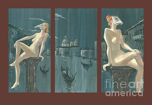 Night In Venice. Triptych. by Sakurov Igor