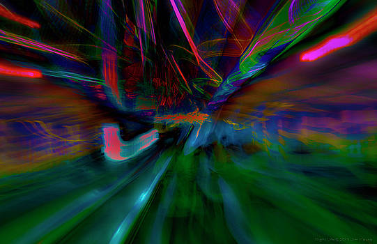 Night Life Abstract  by Jim  Plaxco