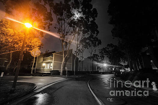 City - Newport Beach - Night Light by Kip Krause