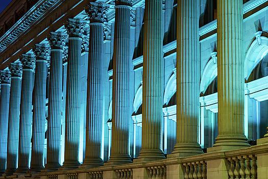 Night Light- Spokane's Masonic Temple Riverside Place by Joy McAdams