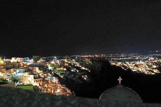 Night lights of Santorini by Yuri Hope