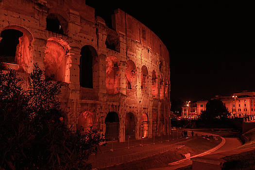 Night lights of the Colosseum -business cards in Rome. by George Westermak