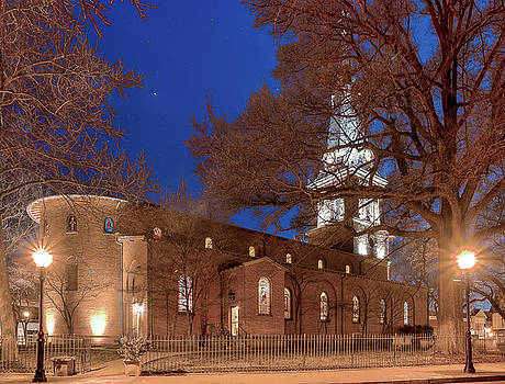 Night Lights St Anne's In The Circle by Jim Proctor