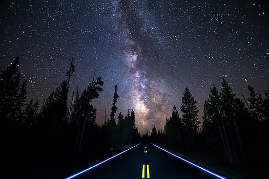 Night Moves Into The Milky Way by James BO Insogna
