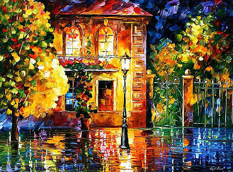 Night Of Expectations - PALETTE KNIFE Oil Painting On Canvas By Leonid Afremov by Leonid Afremov