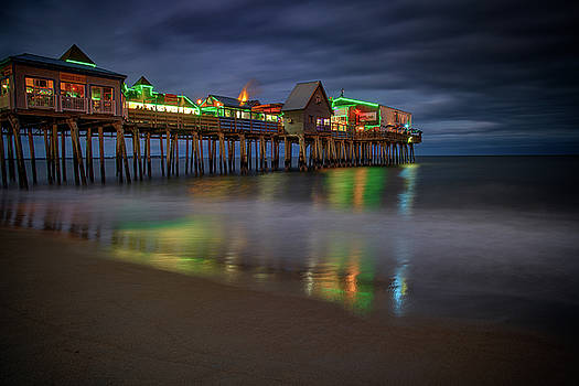 Night on Old Orchard Beach by Rick Berk