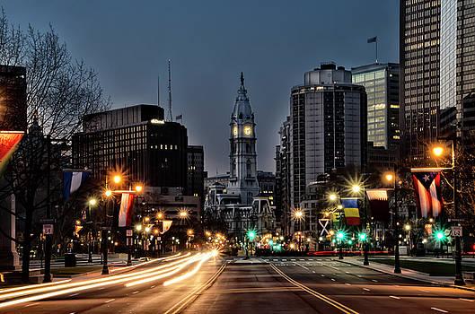 Night on the Benjamin Feanklin Parkway - Philadelphia by Bill Cannon