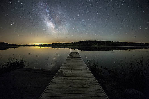 Night on the dock by Aaron J Groen