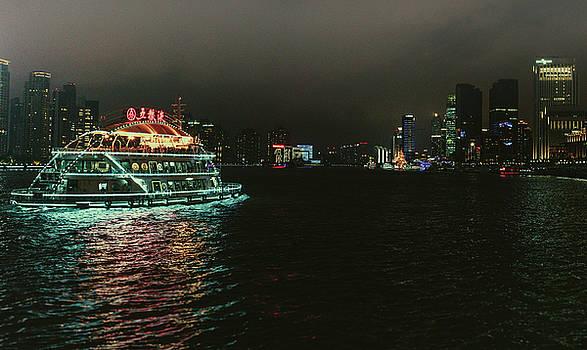 Night on the Huangpu River by Nisah Cheatham