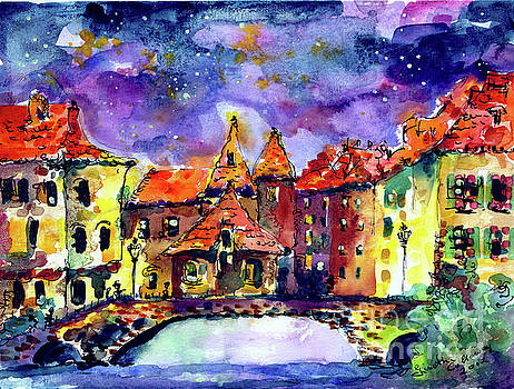 Ginette Callaway - Night Over Annecy