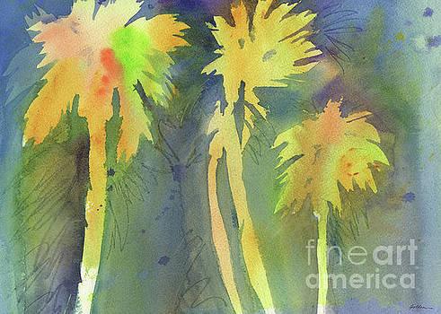 Night Palms #3 by Sheila Golden