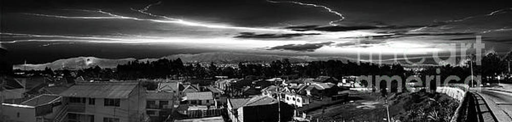 Night Panorama of Cuenca, Ecuador IV by Al Bourassa