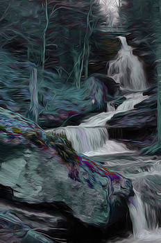 Night Rainbow Waterfall by Beth Sawickie