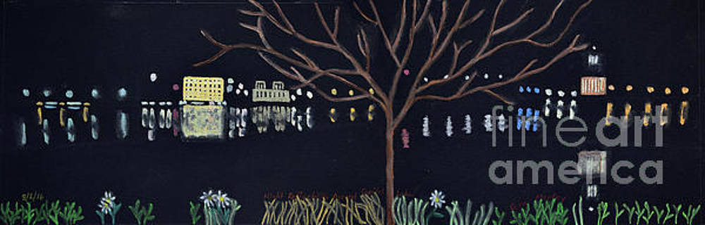 Night Reflection of Capital Lake by Cora Eklund