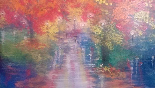 Night Reflections 4 by Judi Goodwin