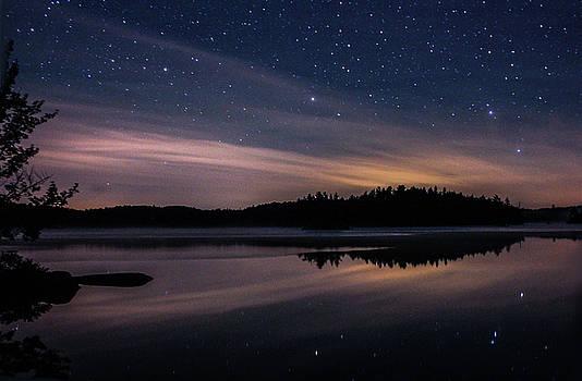 Night reflections on Pharaoh Lake by Jessica Tabora
